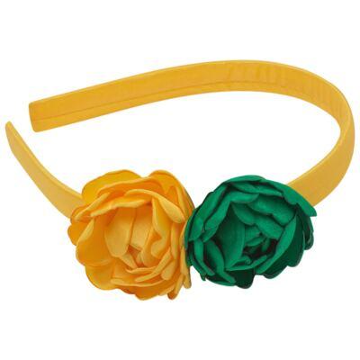 Imagem 1 do produto Tiara Flores Verde & Amarelo - Roana