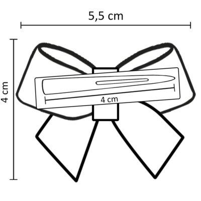 Imagem 3 do produto Presilha Laço cetim Pérolas Dourada - Roana