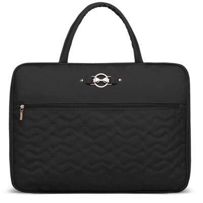 Imagem 1 do produto Mala maternidade para bebe Laços Matelassê Preta - Classic for Baby Bags