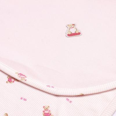 Imagem 2 do produto Manta para bebe em algodão egípcio c/ jato de cerâmica e filtro solar fps 50 Miss Bear - Mini & Kids