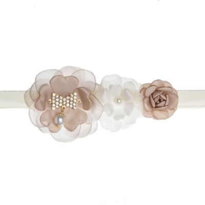 Imagem 2 do produto Faixa Flores Marfim/Rosê - Roana