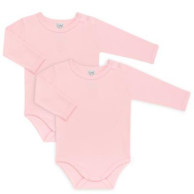 Imagem 1 do produto Kit 2 Bodies longos para bebe Rosa - Vicky Lipe - LTPBML16 PACK 2 BODIES ML ROSA BB-P