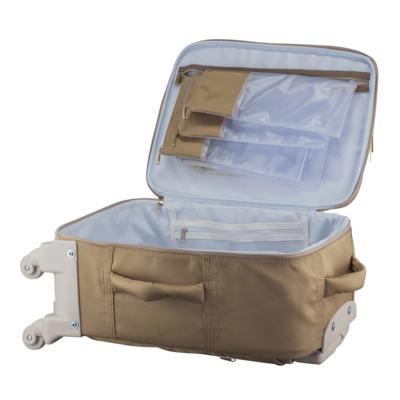 Imagem 2 do produto Mala Maternidade com rodízio Caqui Classic Golden - Masterbag