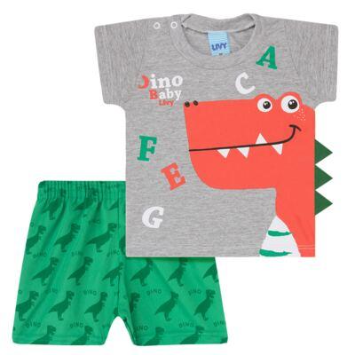 Imagem 1 do produto Camiseta c/ Shorts em tactel Green Dino - Livy