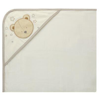 Imagem 1 do produto Toalha com capuz lateral para bebe Nature Cute Bear  - Classic for Baby