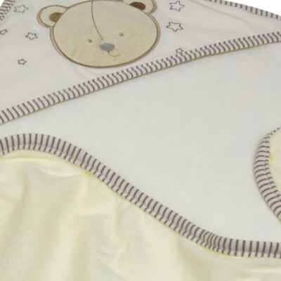 Imagem 3 do produto Toalha com capuz lateral para bebe Nature Cute Bear  - Classic for Baby