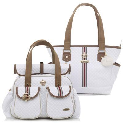 Imagem 1 do produto Bolsa maternidade + Sacola New Monarchy Branca - Lequiqui