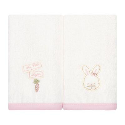 Imagem 2 do produto Kit com 2 fraldas de boca atoalhadas Ma Petite Rabbit - Classic for Baby