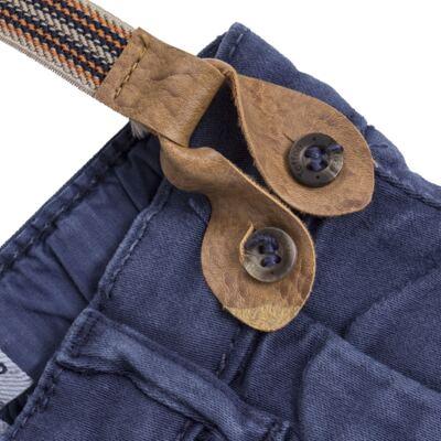 Imagem 2 do produto Calça & Suspensório jeans masculina para bebê Denim - Toffee & Co. - 4253 CALÇA BABY SAR SUSP MASC SARJA AZUL ESCURO-GG