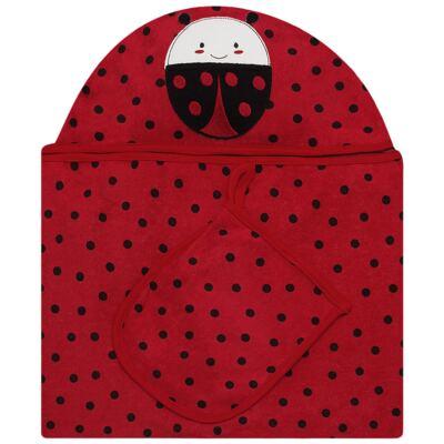 Imagem 1 do produto Toalha com capuz + Luva Ladybug - Classic for Baby