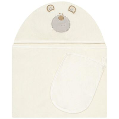 Imagem 1 do produto Toalha com capuz + Luva Nature Baby Bear - Classic for Baby