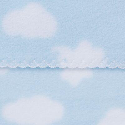 Imagem 2 do produto Manta para bebe em microsoft Nuvens Azul - Dedeka