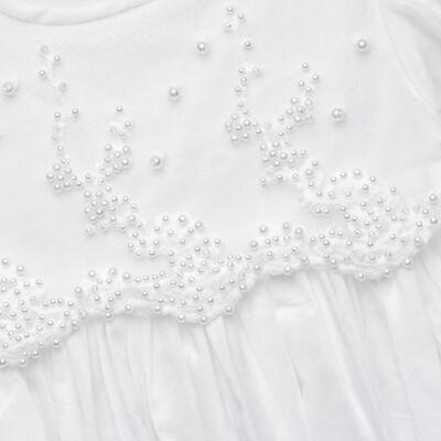 Imagem 2 do produto Mandrião Batizado para bebe Pérolas & Renda Branco - Roana