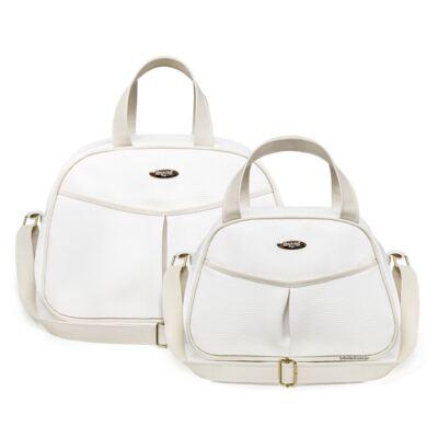Imagem 1 do produto Kit Bolsa maternidade para bebe + Frasqueira Branco/Marfim Unique - Classic for Baby Bags