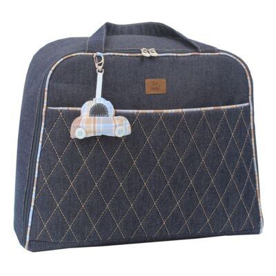 Imagem 2 do produto Mala maternidade para bebe + Bolsa + Frasqueira New Little Car Jeans - Hey Baby