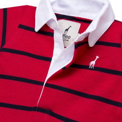 Imagem 2 do produto Macacão Polo para bebe em piquet Vermelho/Marinho - Toffee - 1370T1422 MACACAO M/C PIQUET PIQUET VERMELHO-6-9
