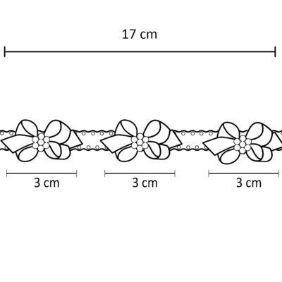 Imagem 3 do produto Faixa de cabelo trançada Laços & Pérolas Pink - Roana