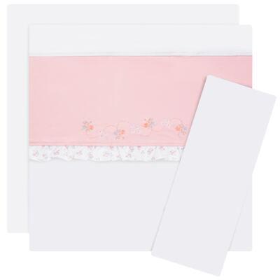 Imagem 1 do produto Jogo de lençol para berço em malha Little Pink Flowers - Anjos Baby