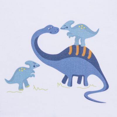 Imagem 3 do produto Pijama curto para bebe em suedine Dino - Dedeka - DDK17123/L44 Pijama Ribana Azul Sereno-M
