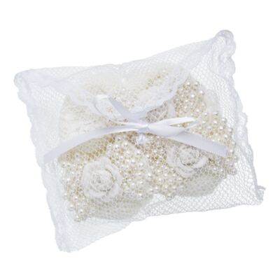 Imagem 6 do produto Sapatinho em tricot com Faixa Laço & Flor Marfim - Roana