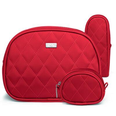 Imagem 1 do produto Kit Acessórios para bebe: 01 Necessaire + 01 Porta Chupeta + 01 Porta Mamadeira Colors Cherry - Classic for Baby Bags