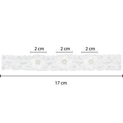 Imagem 3 do produto Faixa renda Mini Flores Branca - Roana