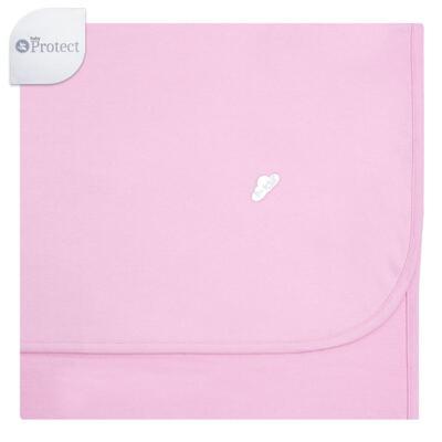 Imagem 1 do produto Manta para bebe em suedine Baby Protect Rosa - Mini & Kids