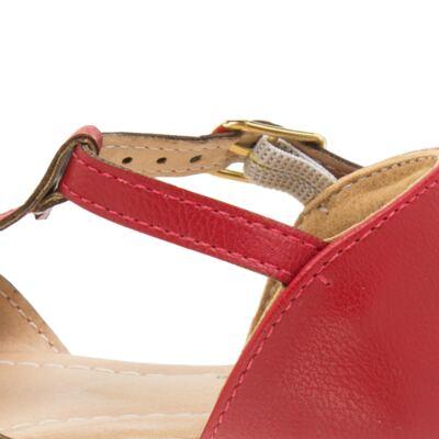 Imagem 3 do produto Sandália Laço em couro Vermelha - Lupie - LP12.26 SANDALIA NEW PELE VERMELHO-22