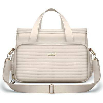 Imagem 1 do produto Bolsa Térmica para bebe Barcelona Golden Marfim - Classic for Baby Bags