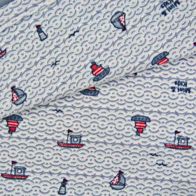 Imagem 2 do produto Manta dupla face em algodão egípcio c/ jato de cerâmica e filtro solar fps 50 Boat - Mini & Kids