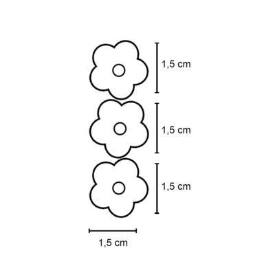 Imagem 2 do produto Kit: 3 Flores adesivas em crochê Marrom/Bege/Bordô - Roana