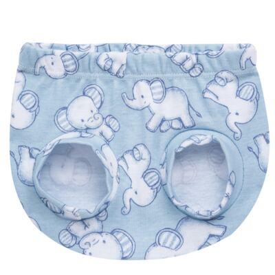 Imagem 2 do produto Pack Elefantinho: 02 Cobre Fraldas para bebe em high comfort - Vicky Baby - 1022-713 ELEF AZUL PK 2 COBRE BEBE SUED HIGH -G