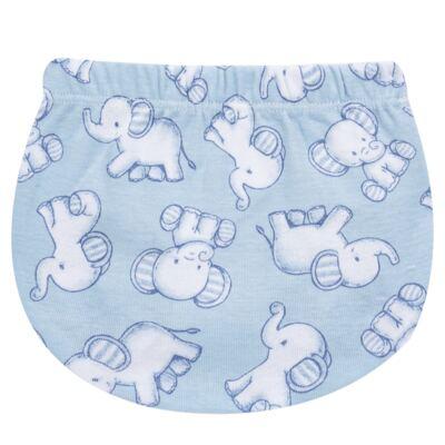 Imagem 3 do produto Pack Elefantinho: 02 Cobre Fraldas para bebe em high comfort - Vicky Baby - 1022-713 ELEF AZUL PK 2 COBRE BEBE SUED HIGH -M
