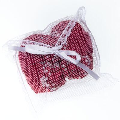 Imagem 6 do produto Sapatinho em tricot com Faixa Flor & Pérolas Vermelha - Roana