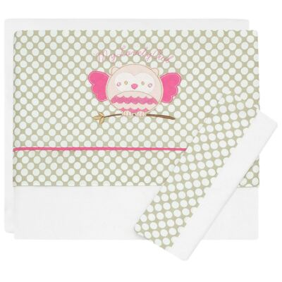 Imagem 1 do produto Jogo de lençol  para berço em malha Coruja - Classic for Baby