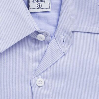 Imagem 2 do produto Camisa para bebe em tricoline Listras Azul - Sylvaz - SZ767 CAMISA LISTRAS ML AZUL-3