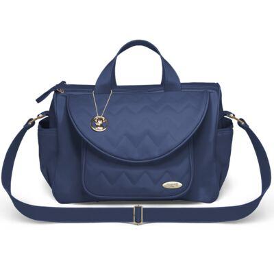 Imagem 1 do produto Bolsa maternidade para bebe Gênova Chevron Safira - Classic for Baby Bags