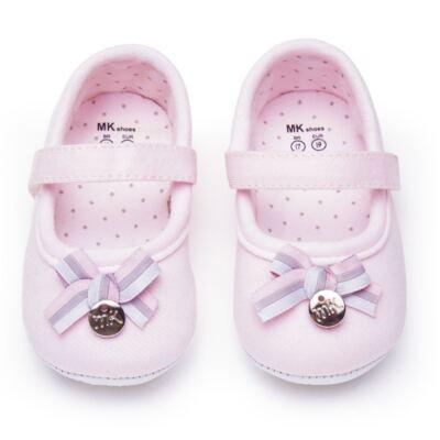 Imagem 1 do produto Sapatilha laço para bebe em suedine Rosa bebê - Mini & Kids - 510.008.2801999 SAPATILHA VELCRO 0 MK-17