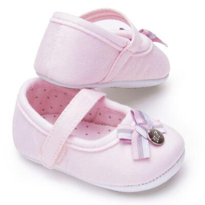 Imagem 3 do produto Sapatilha laço para bebe em suedine Rosa bebê - Mini & Kids - 510.008.2801999 SAPATILHA VELCRO 0 MK-17