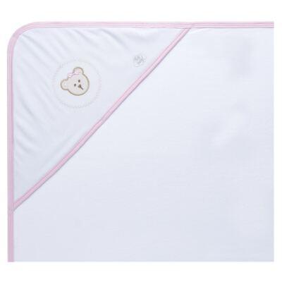 Imagem 1 do produto Toalha com capuz para bebe Pink Teddy Bear - Hey Baby - JBTER-21 Toalha de Banho Teddy Rosa 80x80