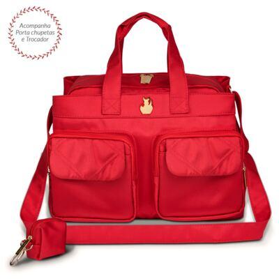 Imagem 1 do produto Bolsa para bebe Toulouse Classic Nylon Cereja - Masterbag