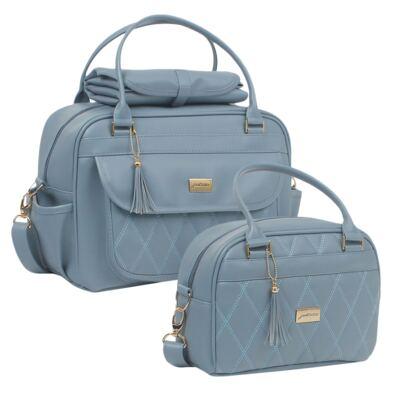 Imagem 1 do produto Bolsa maternidade + Frasqueira térmica Tassel Azul - Just Baby