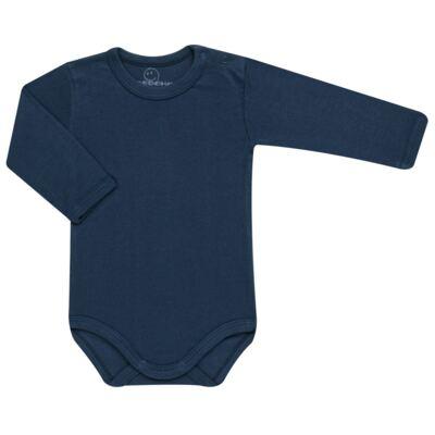 Imagem 1 do produto Body longo para bebe em algodão Marinho - Dedeka - DDK1378/08 Body Ribana c/ BT Ombro ML Marinho-G