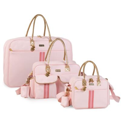 Imagem 1 do produto Mala maternidade Jô + Bolsa Nice + Frasqueira organizadora Sweet Rosa - Masterbag