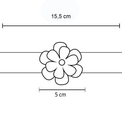 Imagem 2 do produto Faixa meia Flor Pérola & Strass Pink - Roana