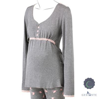 Imagem 1 do produto Pijama Gestante Cegonhas - Cia da Noite