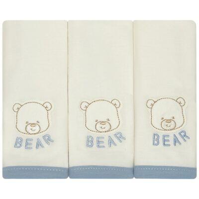 Imagem 1 do produto Kit com 3 fraldinhas de boca em malha Golf Bear - Classic for Baby