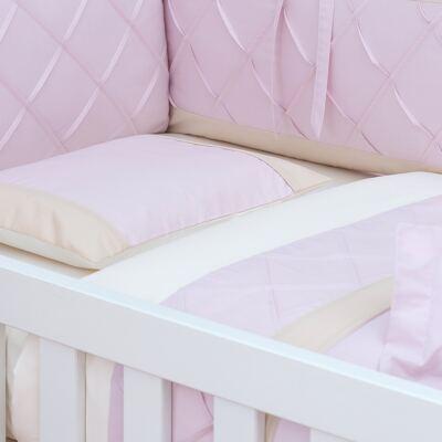 Imagem 1 do produto Jogo de lençol para berço em percal Pink Teddy Bear - Laura Ashley Baby