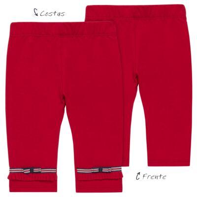 Imagem 1 do produto Legging para bebe em viscomfort Laço Vermelha - Baby Classic - 20511628 LEGGING C/ LAÇO VISCOMFORT BUTTERFLY-3