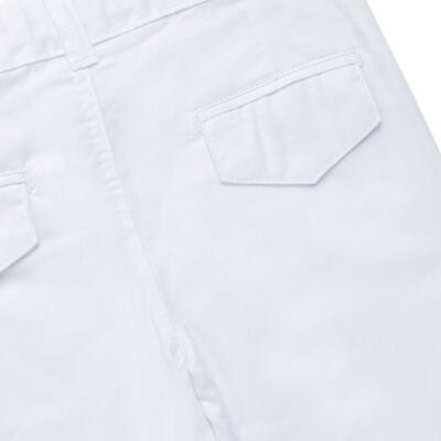 Imagem 6 do produto Camisa & Gravata c/ Calça para bebe em tricoline Branco - Sylvaz - SZ745 CONJUNTO BATIZADO C/ GRAVATA BRANCO-M